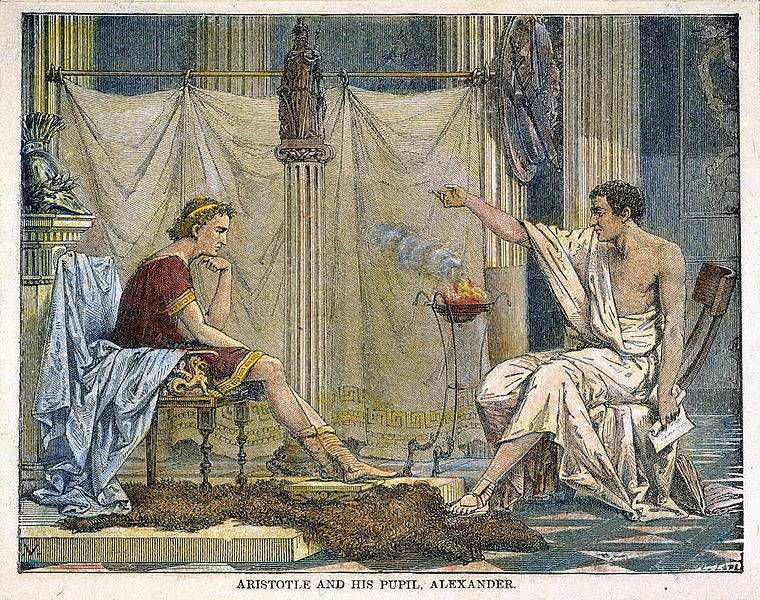 Aristotle and his pupil, Alexander