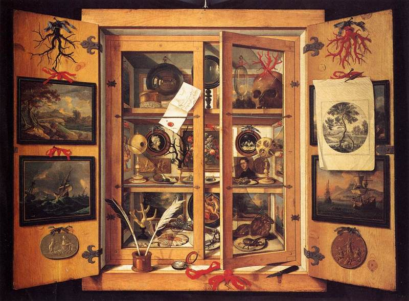 Cabinet of Curiosities by Domenico Remps